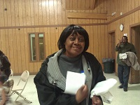 Mrs Brewton (one of the owners of the homes being rehabbed) at the Bock Party.