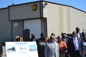 UPS Hosted today's event and many others from businesses in the area attended.