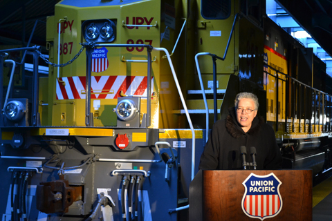 Image of Toni Preckwinkle at Union Pacific Event