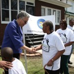 Both homeowners had a chance to meet with President Preckwinkle when she visited their homes.  Commissioner Sims also visited the homeowners.