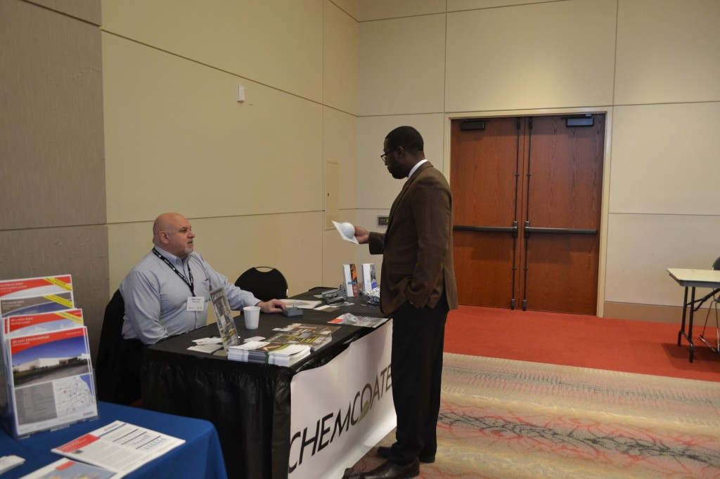 Chemcoaters had a vendors table with valuable information.