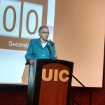President Preckwinkle delivers opening remakrs at the CMMC Inaugural Matchmaking Event