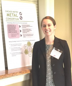 Jennifer Ptak, Program Manager, Cook County Bureau of Economic Development shares information at the event.