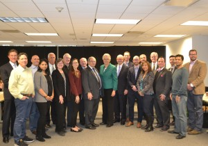 President Preckwinkle and 2015 Winners of the Chicago Innovations Award after their round table on February 16.