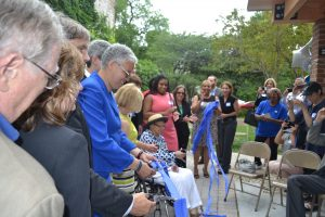 President Preckwinkle and others cut the ribbon at the celebration.