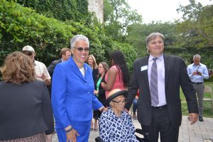 Ms. Childress with President Preckwinkle and Rich Monocchio.
