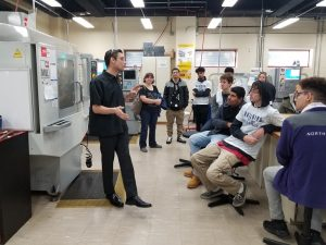Students at the Wilbur Wright machine shop.